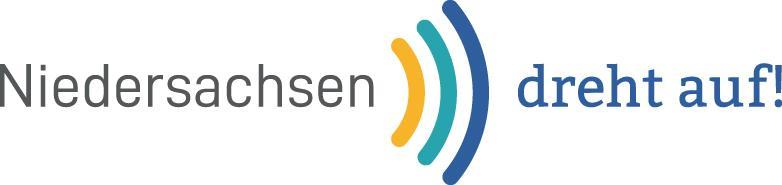 Logo der Förderinitiative Niedersachsen dreht auf